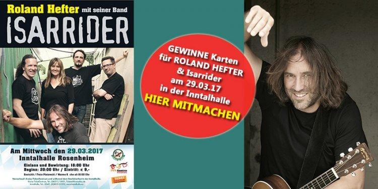 Gewinnspiel Roland Hefter Isarrider Inntalhalle Rosenheim INN Gastro Rosenheim: Jetzt mitmachen!