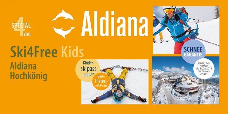 Mit dem Angebot vom Rosenheimer Reiseservice können Sie Ihren Familien-Ski-Urlaub im Skigebiet Hochkönig so richtig genießen. Untergebracht sind Sie in der Clubanlage Aldiana, die unter anderem kostenlose Skikurse anbietet.