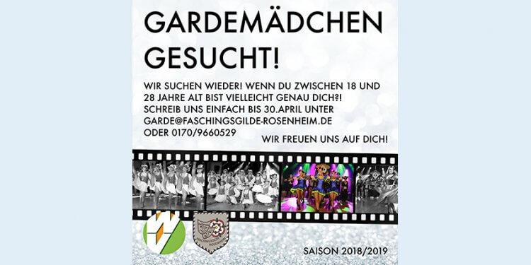 Du bist zwischen 18 und 28 Jahre alt und interessierst Dich für das Tanzen und Choreographieren im Team und möchtest gerne Teil der Faschingsgilde Rosenheim werden. Alle Informationen findest Du hier.