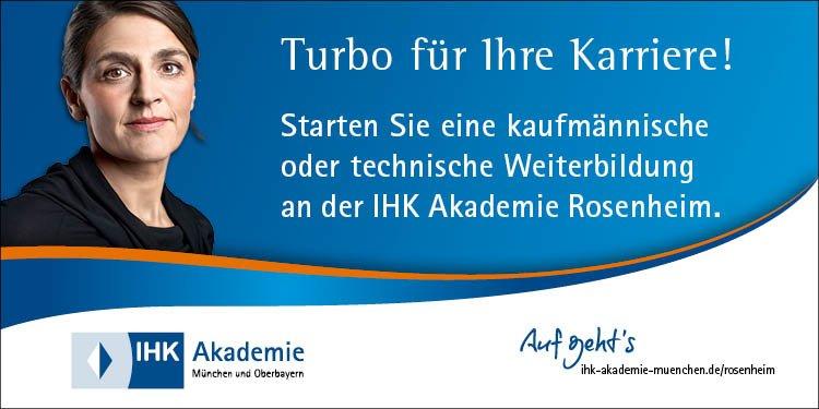 Machen Sie Karriere mit der IHK: Aktuelle IHK-Infoabende für den Standort Rosenheim finden Sie hier. Egal ob Prüfungslehrgang, Zertifikatslehrgang oder Seminar - berufsbegleitend oder Vollzeit, hier finden Sie die passende Alternative.