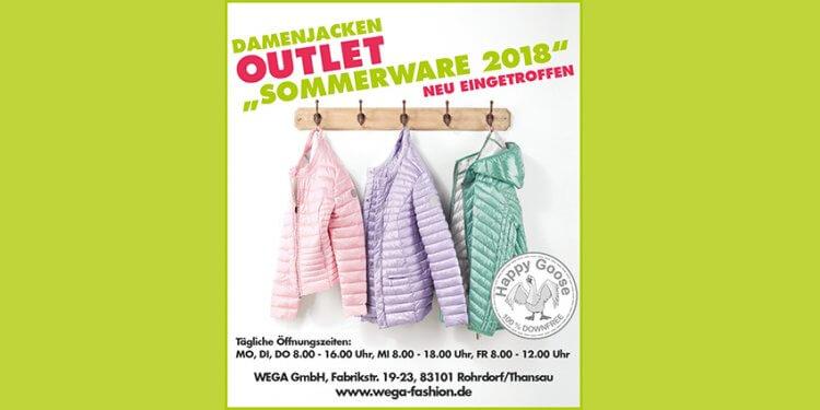 Entdecken Sie die aktuelle Sommerware bei WEGA. Die leichten Damenjacken im Outlet glänzen in tollen Farben und Schnitten und setzen ein farbliches Statement zum frischen Sommerlook. Das Musthave 2018.