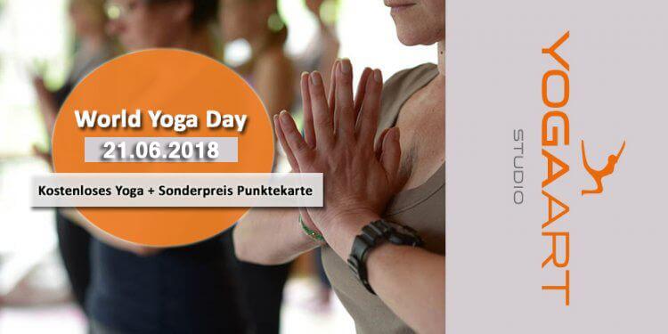Im Rahmen des World Yoga Days bietet das Team von Yogaart Rosenheim am 21. Juni kostenloses Yoga für Alle an, los geht´s um 17:45 Uhr. Alles zum Programm gibt´s hier!